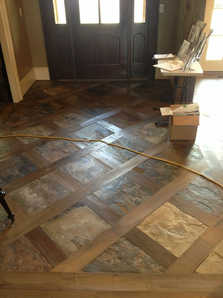 Unique Tile Floor In Basement