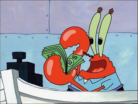 Mr Krabs Is Counting His Money spongebob