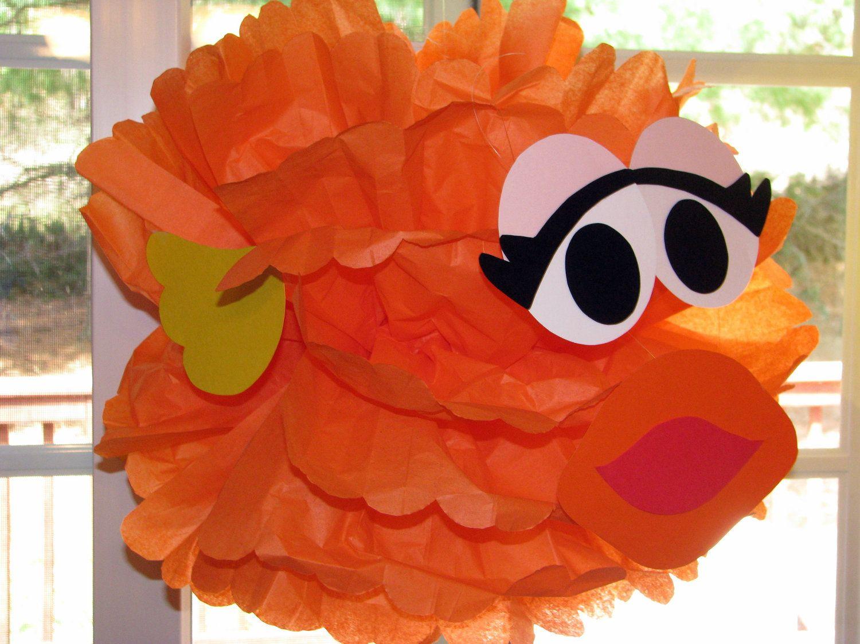 "Orange Goldfish tissue paper pompom kit inspired by ""Dorothy"