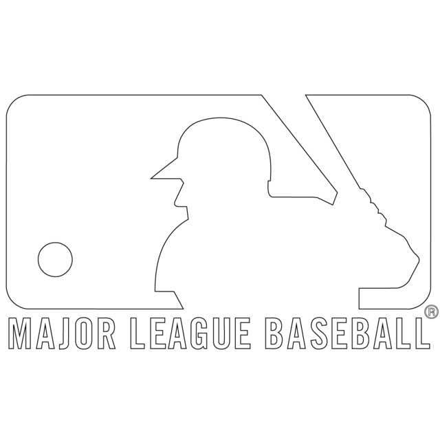 Free Major League Baseball Mlb Coloring Pages Printable Baseball Coloring Pages Mlb Logos Sports Coloring Pages