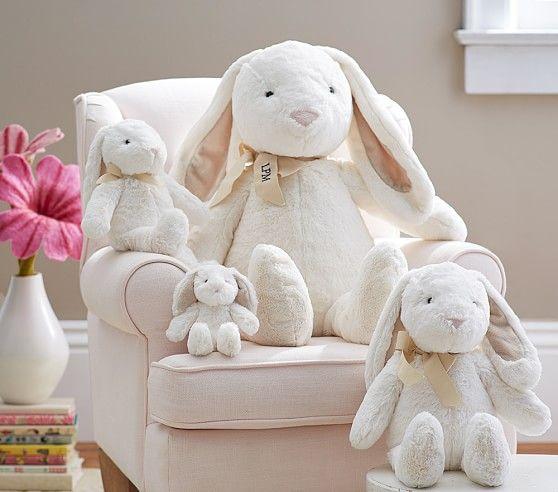 White Bunny Plush Collection Bunny Plush Easter Toys