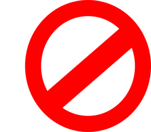 No Or Don T Symbol Symbols Words To Use Clip Art