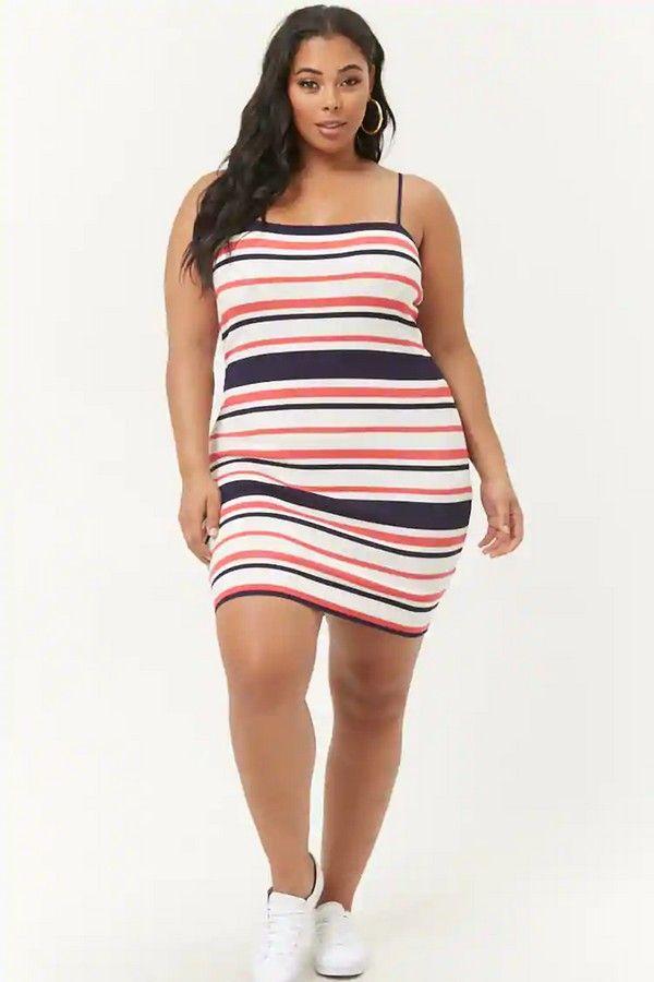 f127559d7 Plus Size Striped Bodycon Mini Dress  21.99  fashion  ootd  outfit  oufits   moda  plussize  dress  dresses  plussizeclothing  plussizedress  curve   curvy ...