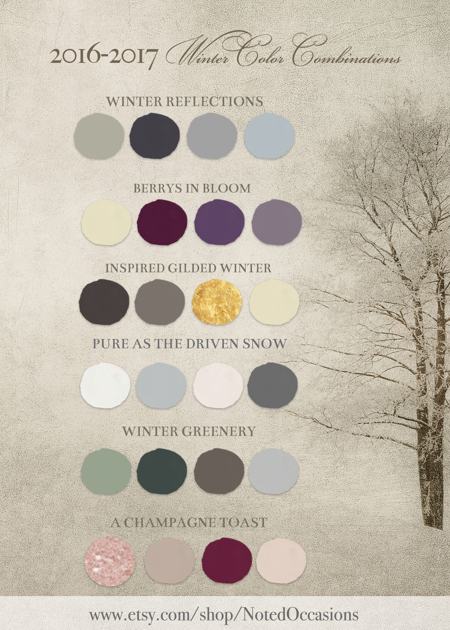 2016 winter wedding color combinations and trends for 2017 winter ...