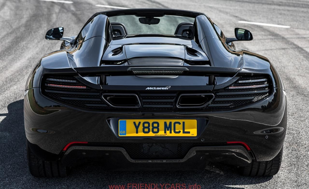 Awesome Mclaren Mp4 12c Spider Black Image Hd Luxury Fast Cars
