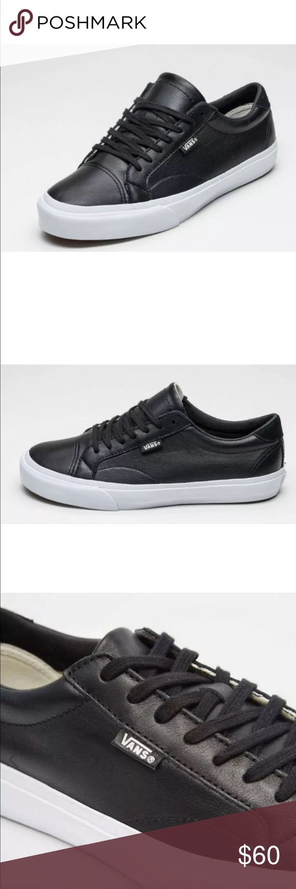 ae23fe144138b1 Vans Men s Court DX Leather Black Skate Shoes NEW AUTHENTIC Vans Court DX  Leather Skate Shoes