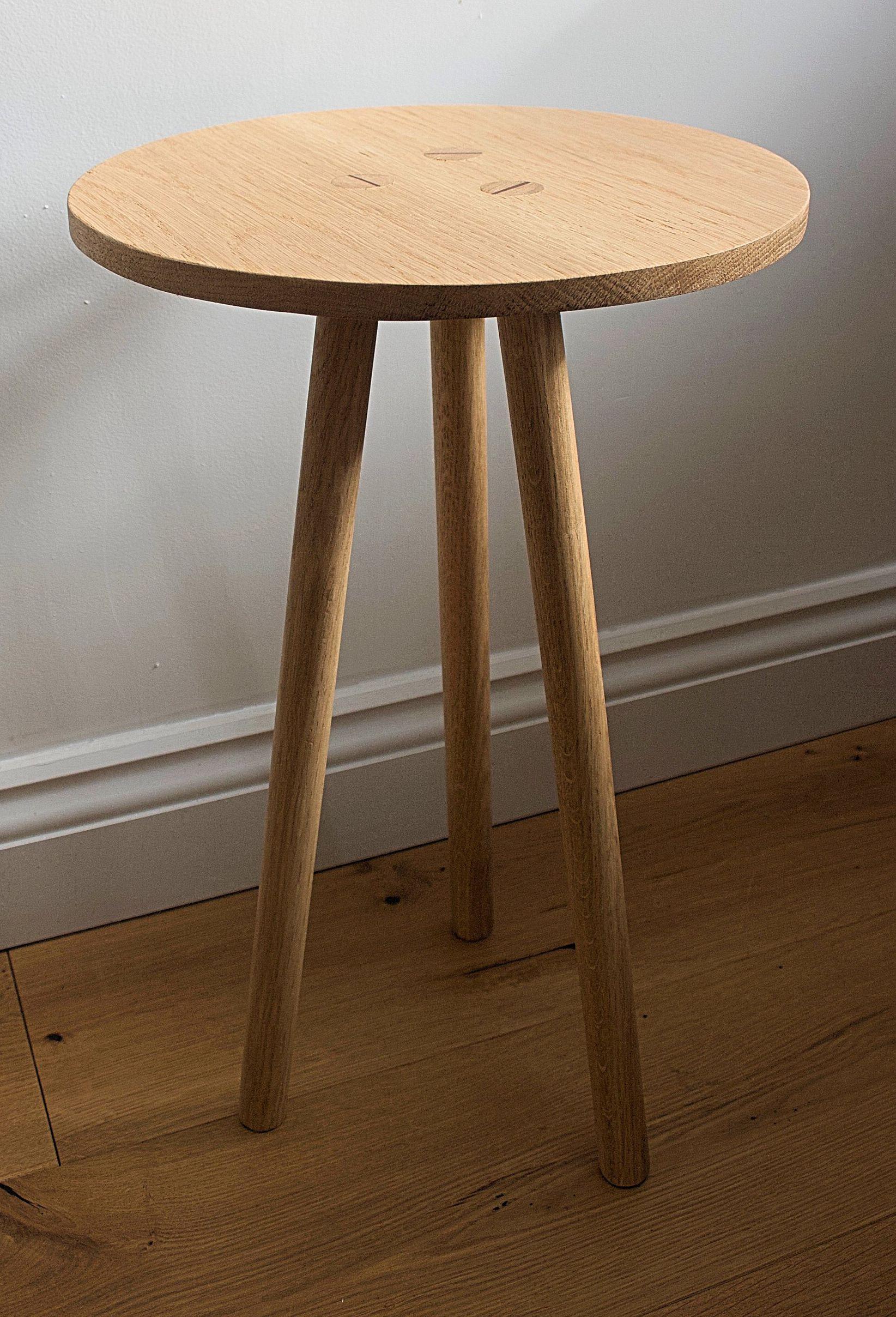 Three Legged Oak Side Table Oak Side Table Bedside Table Oak