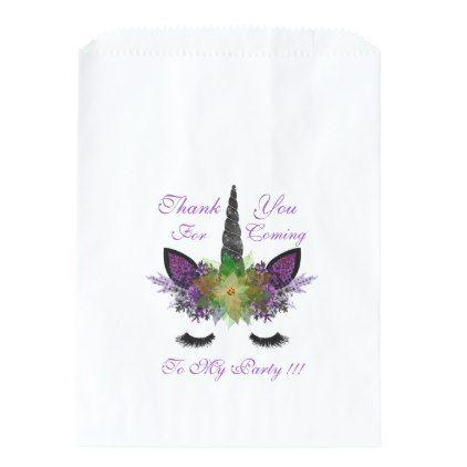 Magical Unicorn Birthday Halloween Gift Favor Bags