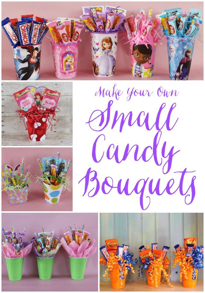 making small candy bouquets geburtstagsideen. Black Bedroom Furniture Sets. Home Design Ideas