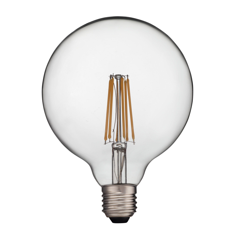 Ampoule Led A Filament Globe 120 Mm E27 1521 Lm 100 W Blanc Chaud Lexman Led Ampoule Et Metal Noir
