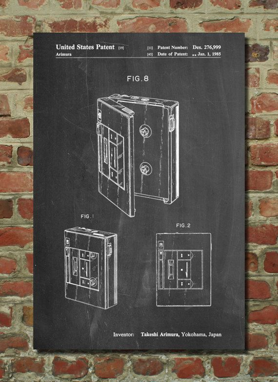 Toshiba Walkman Patent Poster  Cassette Player  80 U0026 39 S Art