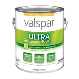 Valspar Ultra 4000 White Gloss Oil Based Enamel Interior Exterior Paint Actual Net