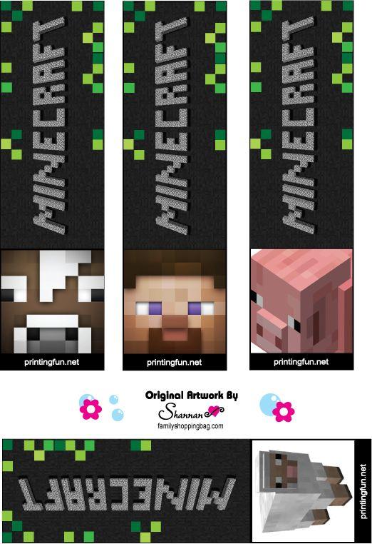 Www Familyshoppingbag Com Img View Print Php Img X3d Bookmarks 466151 Jpg Minecraft Birthday Minecraft Birthday Party Minecraft Valentines