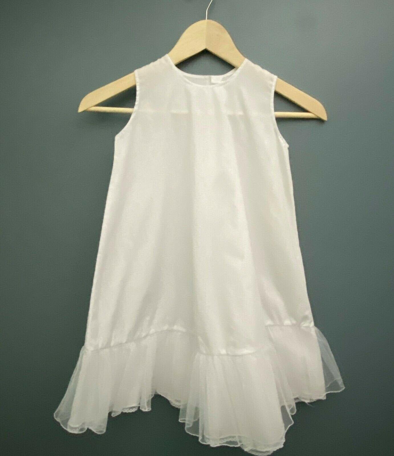 Vintage Girls Toddler White Dress Slip Ruffles 3t 4t Vintage Vintagedress Vintageslip Dres Vintage Childrens Clothing Toddler White Dress Childrens Clothes [ 1600 x 1382 Pixel ]