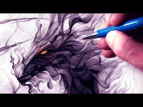 let s draw a smoke dragon fantasy art friday youtube