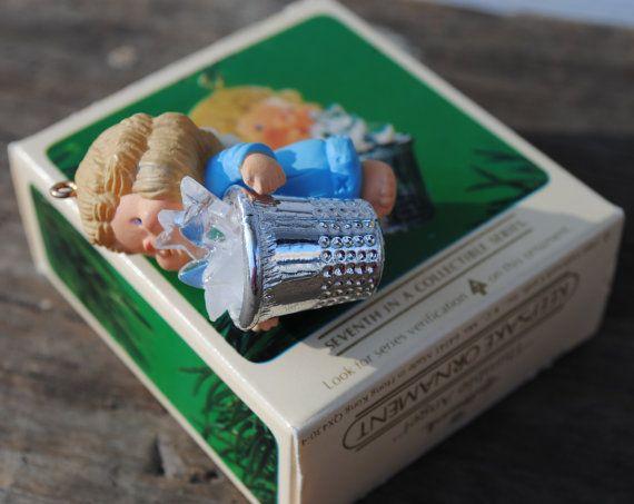 SALE Vintage Hallmark Ornament / Thimble by VintagebytheBelles, $10.00