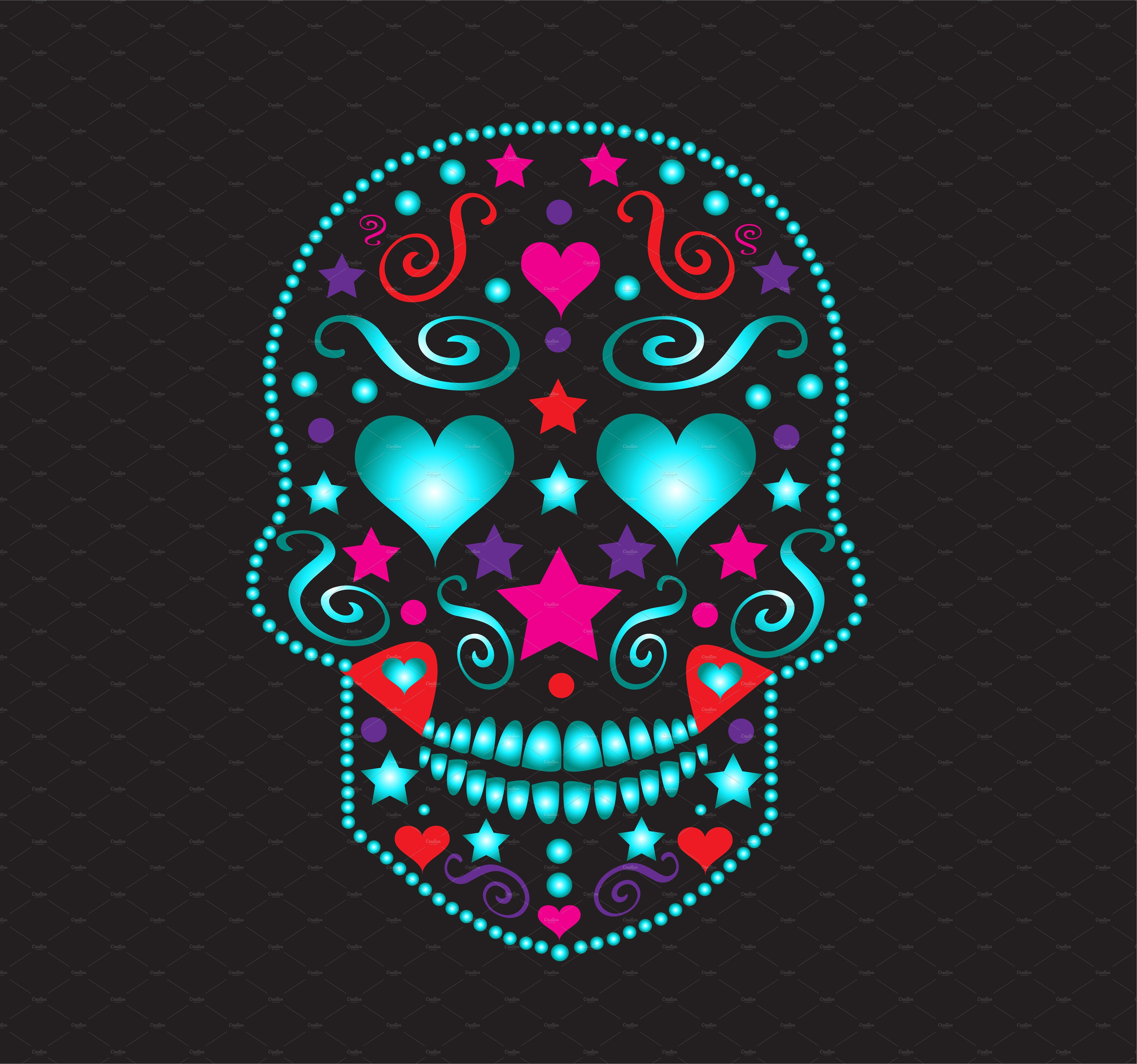 Best Skull With Heart Eyes Neon Color By Teagraphicdesign On 400 x 300