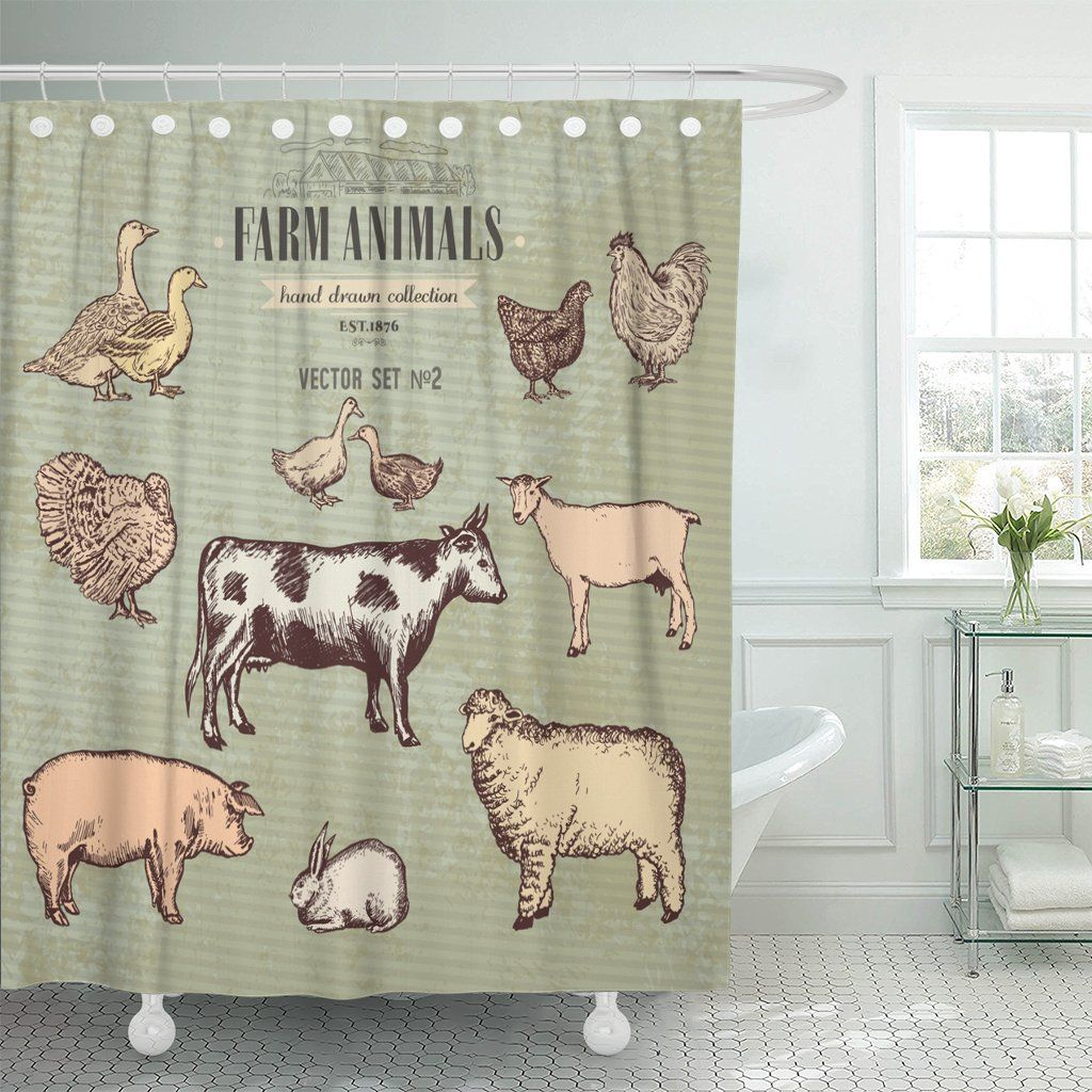 Showering Pig Shower Curtain Shower Curtain Curtains Shower