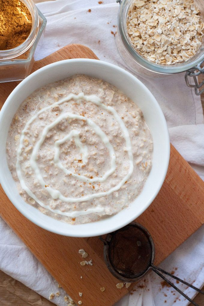 Cinnamon Roll Overnight Oats - Wie Zimtschnecken zum Löffeln - Kochkarussell