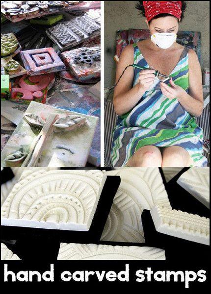 hand carved stamps mini online workshop