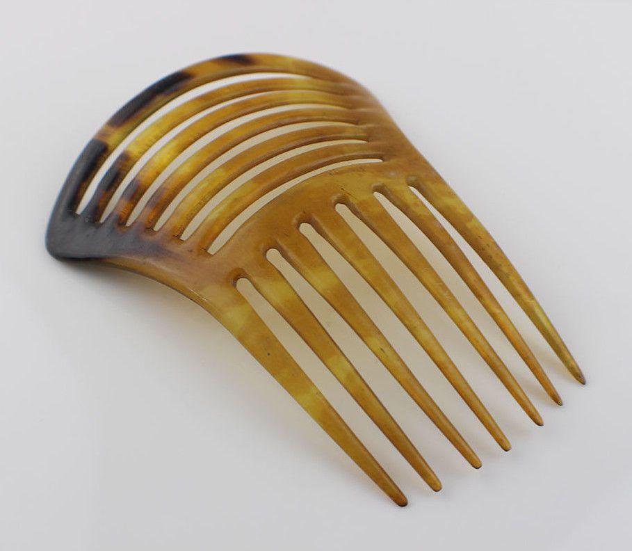 Vintage Faux Tortoises Hair Comb Mantilla Slide | eBay | Comb ...