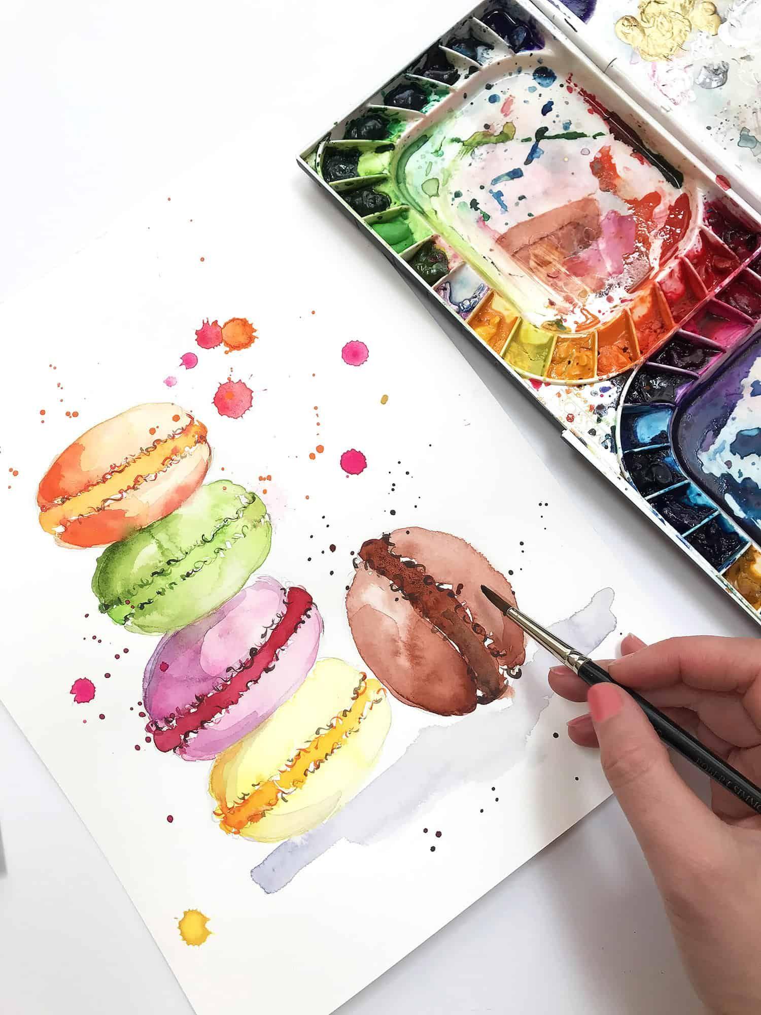 Watercolor Practice Painting Sweet Treats Watercolor Paintings