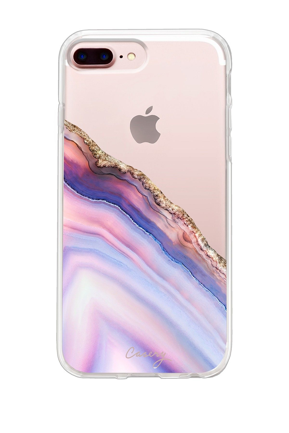 Pink & Blue Agate iPhone 6 Plus 7 Plus 8 Plus Case