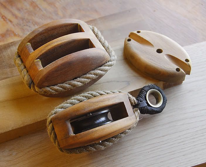 Wooden rope stropped blocks  I'd like to find something on
