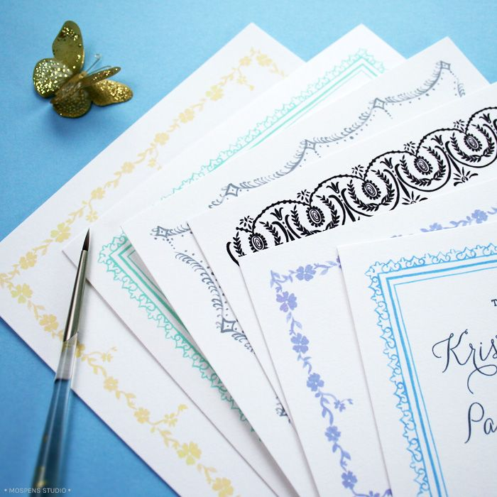 Latest Great Gats by InpsiRed Wedding Invitations Card Border – Studio Cards Wedding Invitations
