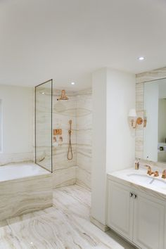 grey, white and copper colored bathroom tile - Google Search
