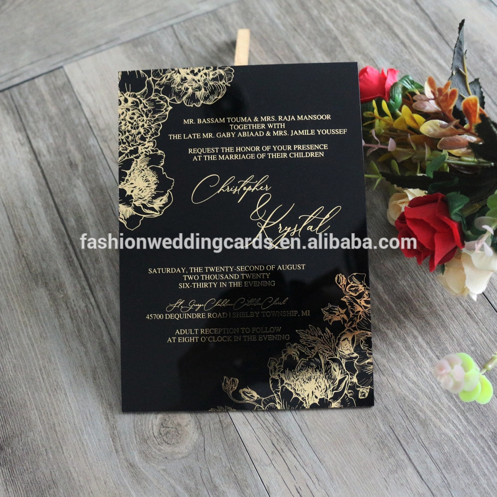Wholesale Unique Rose Design Wedding Invitations Creative Blank Acrylic Wedding Ceremon Buy Wedding Invitations Acrylic Wedding Invitations Wedding Invitations
