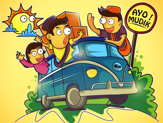 Tips Aman Mengemudi Mobil Saat Mudik Lebaran Gambar Lucu Lucu Kartun