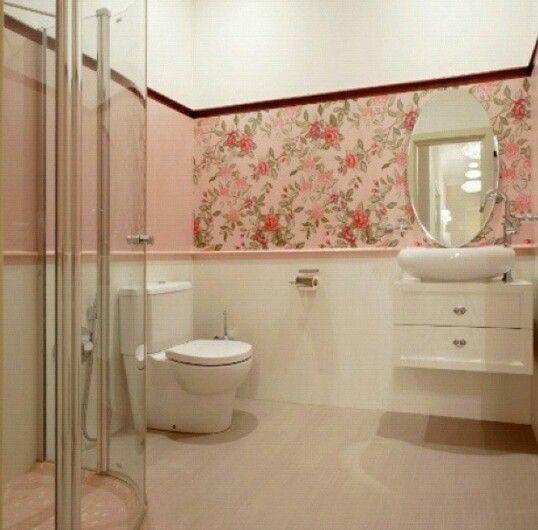 دورة مياه وردي انيييق Corner Bathtub Bathroom House