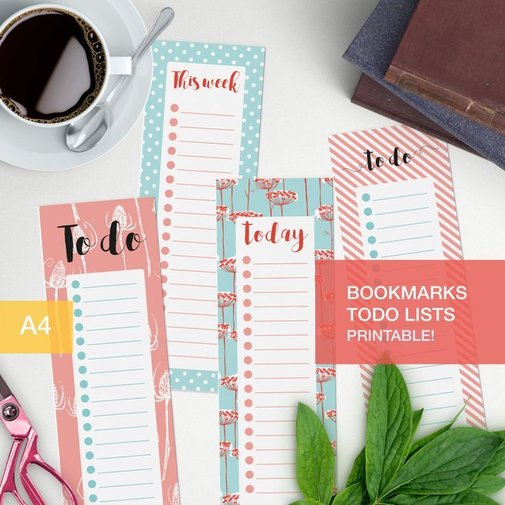 A to do list bookmark that you can print any way you want