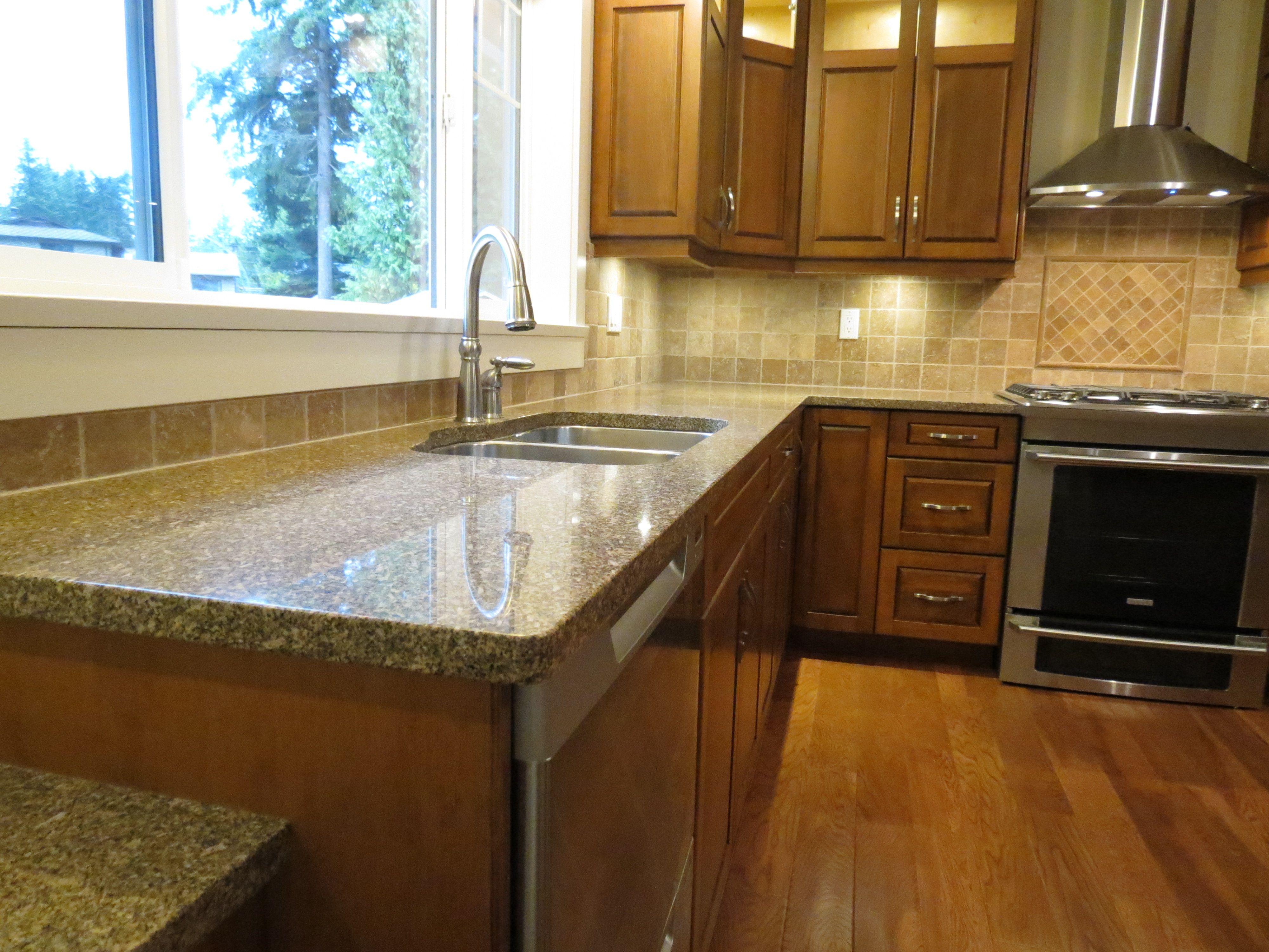 Charming Giallo Antico Granite Countertops