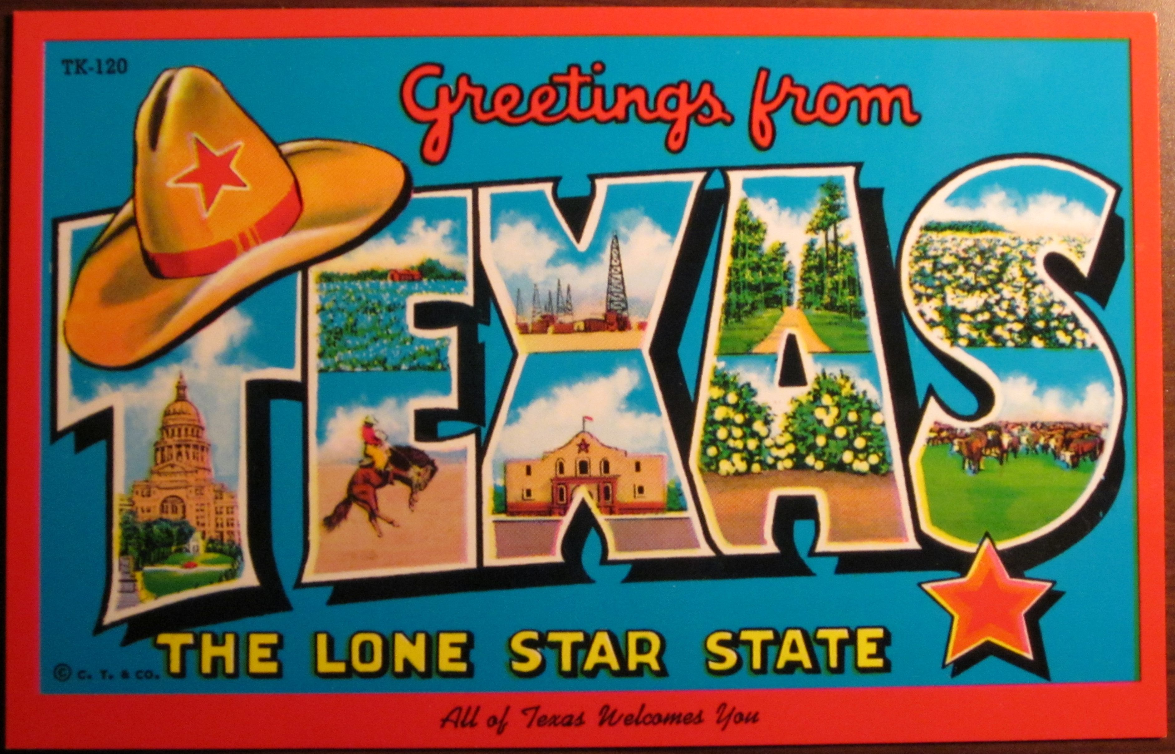 Umsi hits the road for austin texas umsi sxsw pinterest greetings from texas from the jon lander kitsch collection kristyandbryce Choice Image