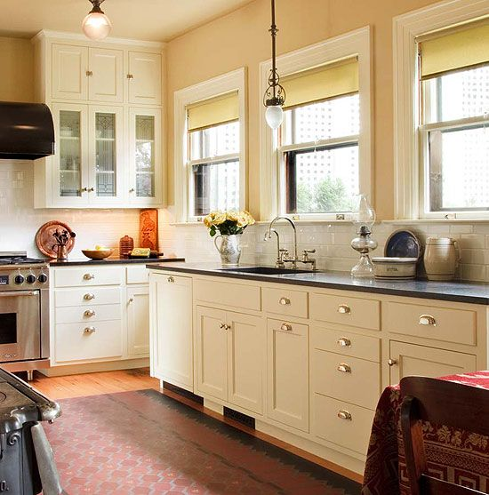 Kitchen Ideas White Cabinets With Dark Countertop: Kitchen Sinks & Countertops: Go Trendy Or Timeless