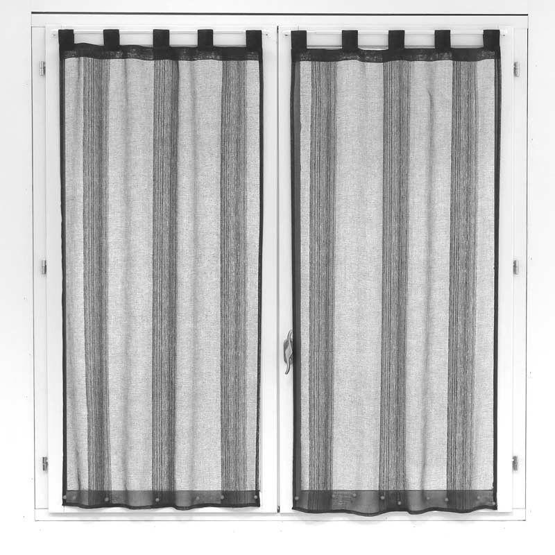 Disponible Sur Maisondulingefr Paire De Voilages Pour Fenêtre Gris - Voilage porte fenetre