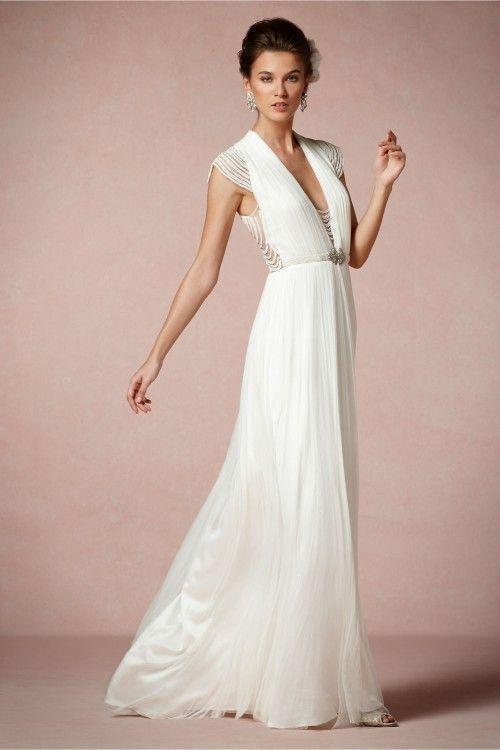 vestido de novia 2014 en color blanco con estilo minimalista y