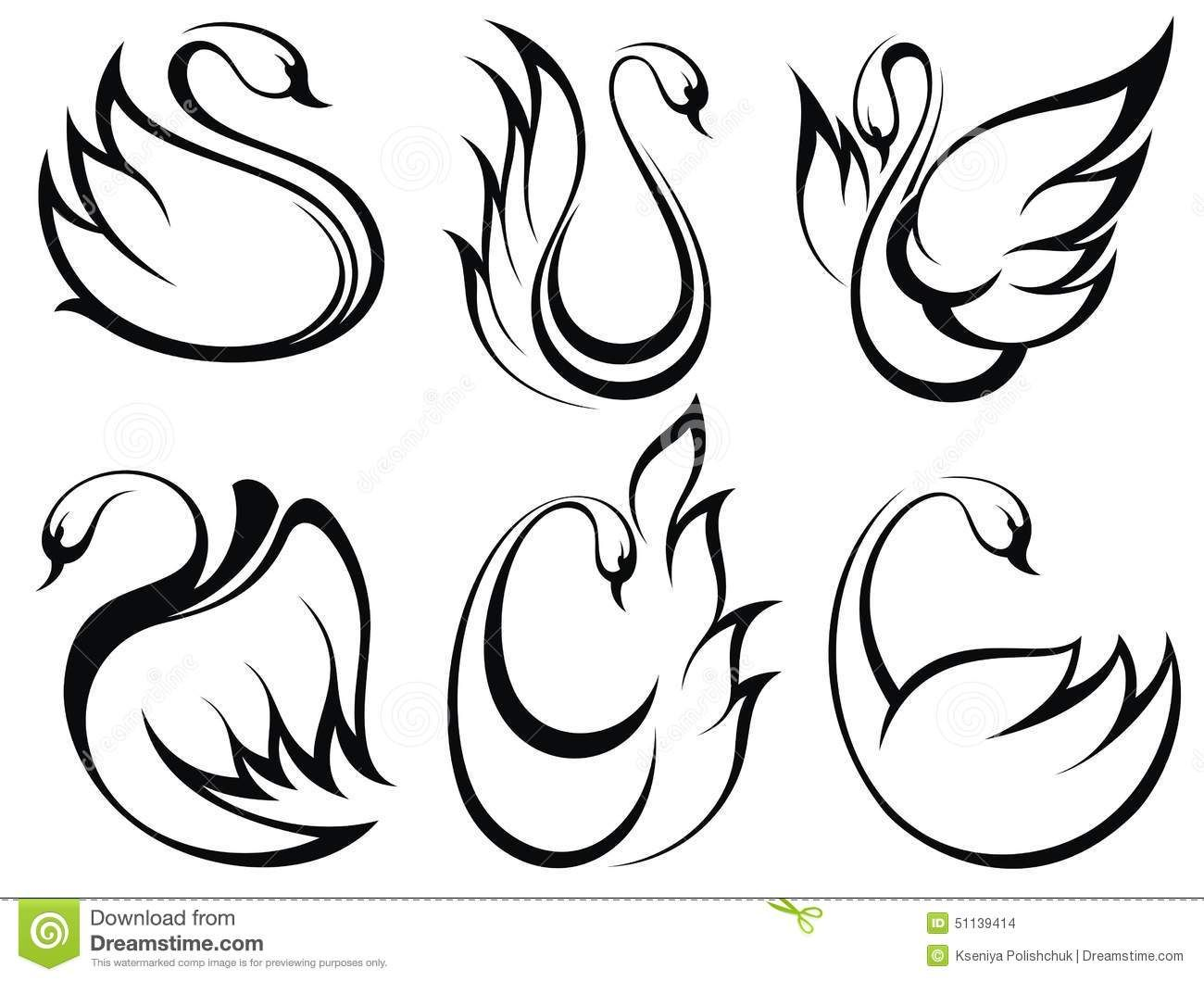 Swan Symbol Set Download From Over 49 Million High Quality Stock