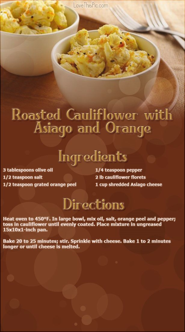 Roasted Cauliflower with Asiago easy recipes dinner recipes holiday recipes instructions cooking ingredients recipe