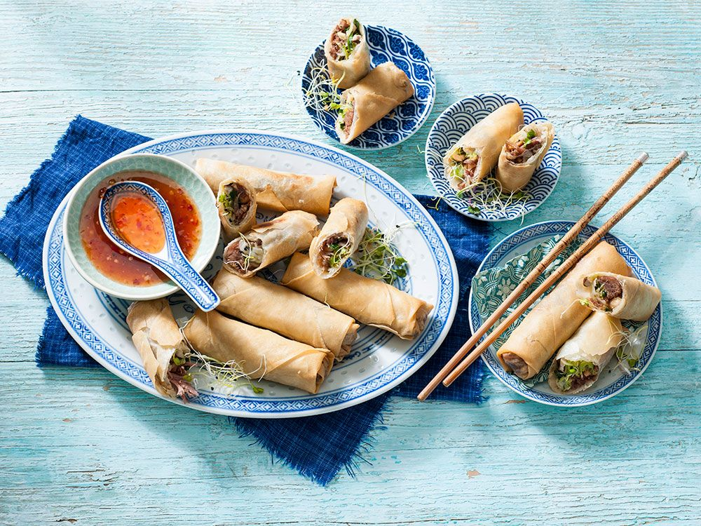 Chicken Spring RollsMaking your own egg rolls at home is