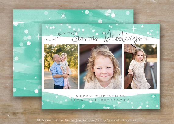 Christmas Card Template Holiday Card Template 5x7 Watercolor Etsy Photoshop Christmas Card Template Holiday Card Template Christmas Card Template