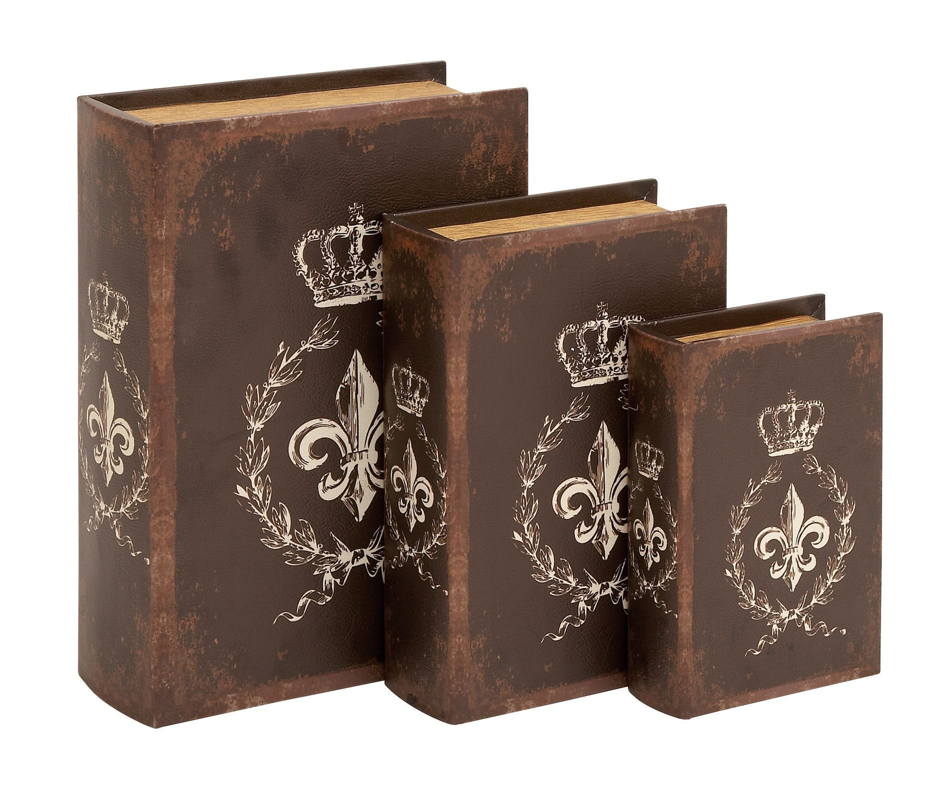 Book Box In Traditional Style Bound - Set Of 3