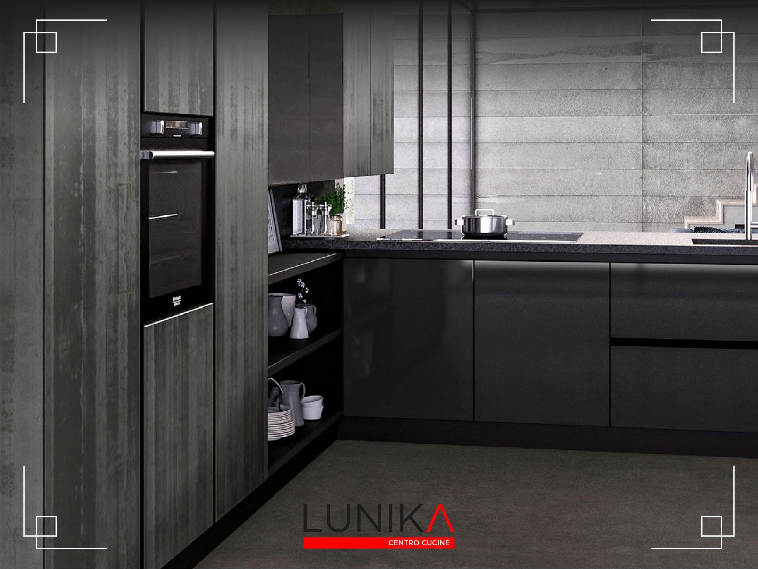 Pensili E Basi Per Cucina Componibile.Cucina Modello Glass Con Basi E Pensili Vetro Nero Lucido