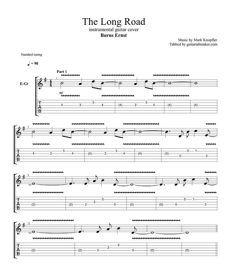 Instrumental Guitar Tab (easy)