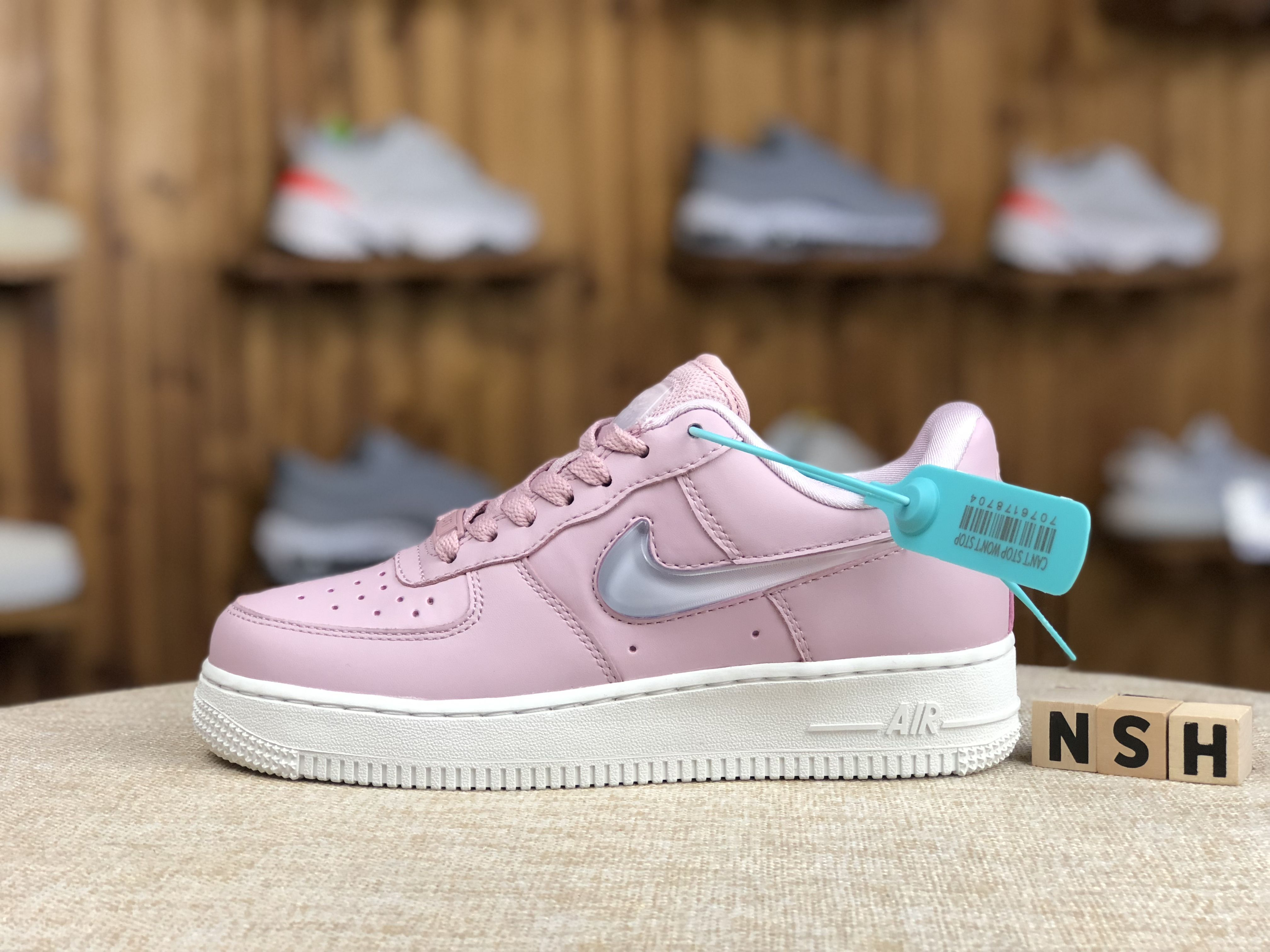 Nike Air Force 1 Low White Pink Shoes Best Price AH6827 500
