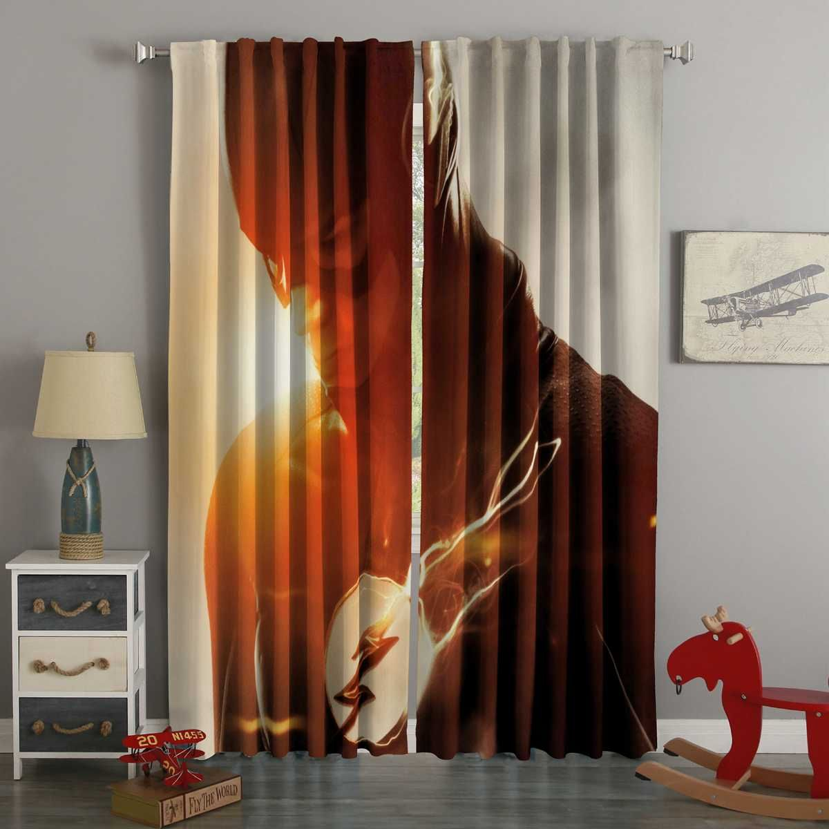 3d Printed The Flash Style Custom Living Room Curtains Curtains Living Room Curtains Custom Curtains