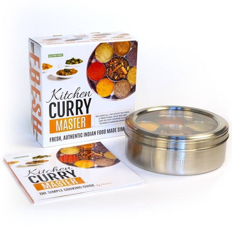 With a collection of 12 spices and an easy-to-follow cookbook, Kitchen Curry Master can help you create Indian cuisine at home.
