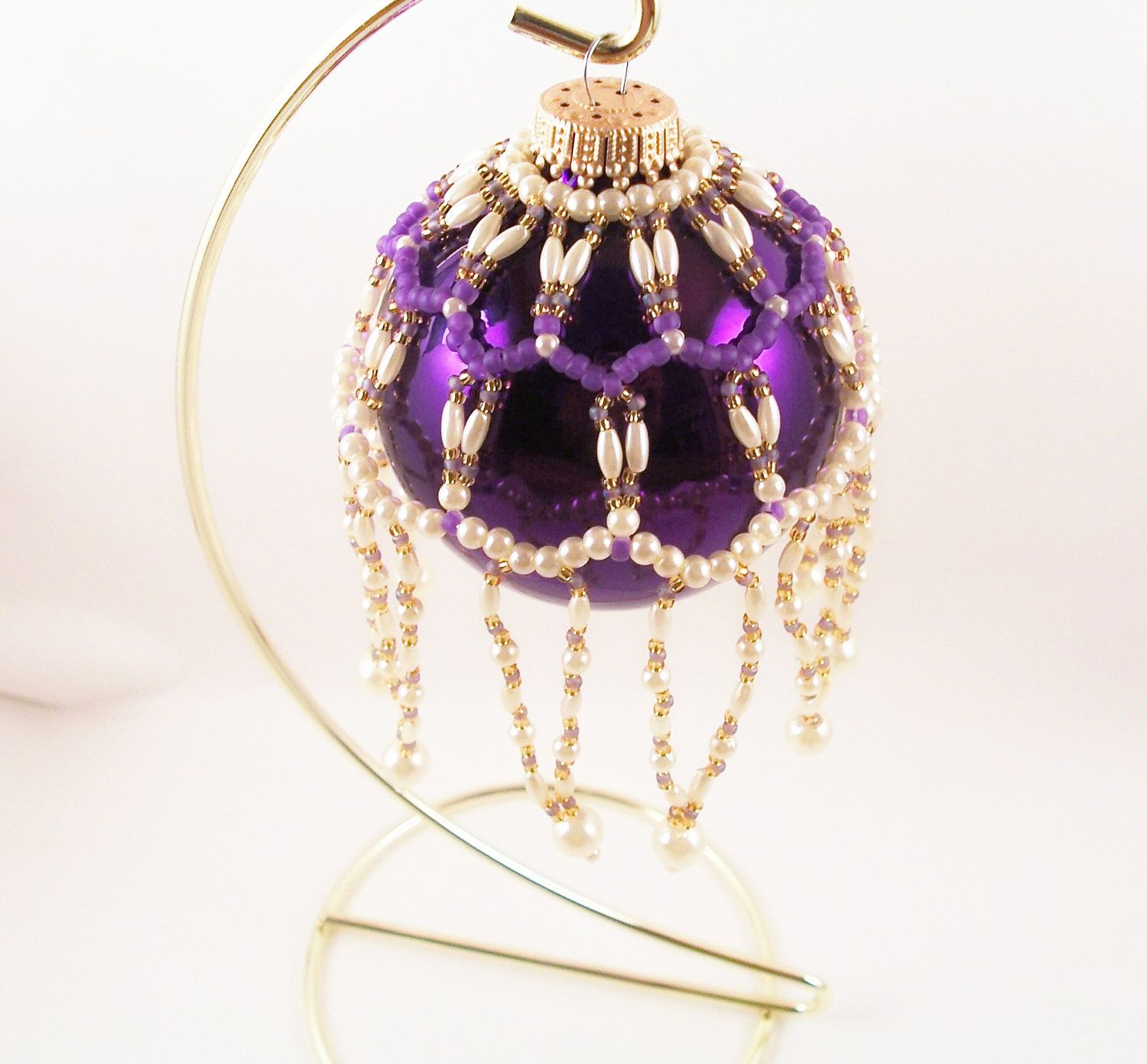 Pearl Ornament Cover Pattern, Beading Tutorial in PDF ...